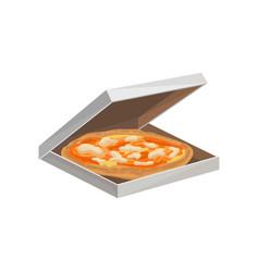 traditional italian pizza in cardboard box vector image