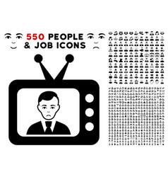 Tv dictor icon with bonus vector