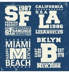 Usa city vintage stamp vector