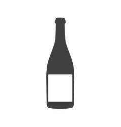 wine bottle with label isolated on white vector image