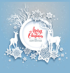 winter frame with deers vector image