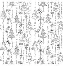 black and white seamless vector image vector image