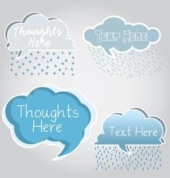 Cloud Speech Bubbles vector image