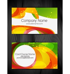 colorful abstract business card design vector image