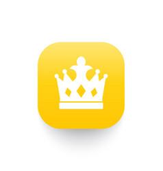 crown icon royal symbol vector image