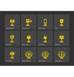 Prizes and Trophy icons vector image vector image