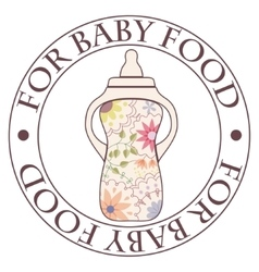Stamp for baby food vintage vector image vector image