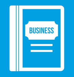 business book icon white vector image