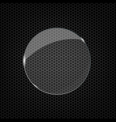 glass round shape vector image