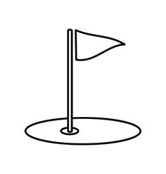 Golf field line icon vector image vector image
