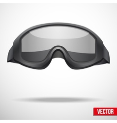 Military black goggles vector image vector image