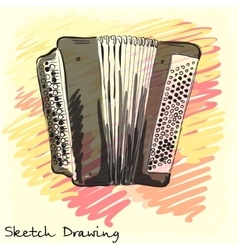 Musical instrument Classical bayan accordion vector image
