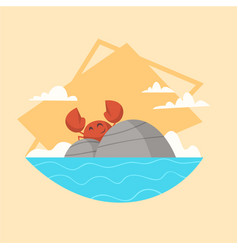 summer vacation sea landscape icon beautiful vector image vector image