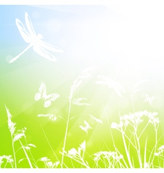 Abstract summer meadow vector