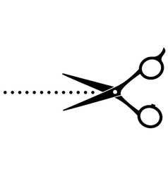 cutting scissors image and points vector image