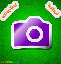 Digital photo camera icon sign Symbol chic colored vector image vector image