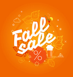 fall sale season sale concept vector image