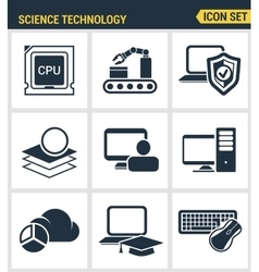 Icons set premium quality of data science vector image vector image