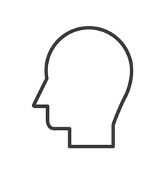 man head line icon sign on vector image vector image
