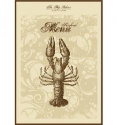 menu fish and seafood vector image