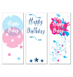 set of birthday cards vector image