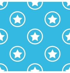 Star sign blue pattern vector image vector image