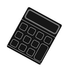 calculator machine to quickly count data math vector image