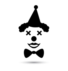 clown icon vector image vector image