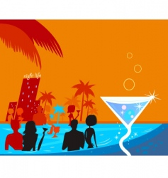 pool party vector image