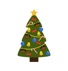tree image with symbols on vector image vector image