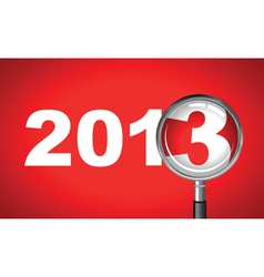 2013 magnifying glass vector image