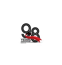 98 years anniversary logotype flat black color vector
