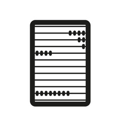 Abacus sign black icon on vector