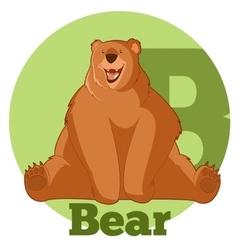 ABC Cartoon Bear vector image