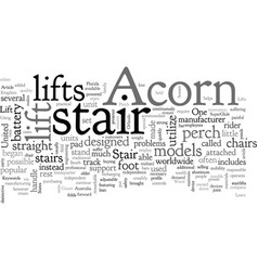 acorn stair lifts vector image