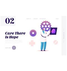 Alzheimer and dementia disease symptoms website vector