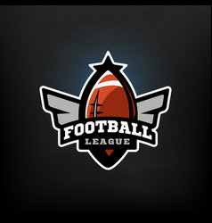 american football sports logo vector image