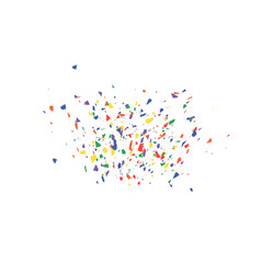 an explosion of festive confetti many falling vector image