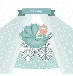 Baby shower card for a newborn vector image