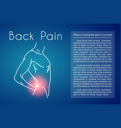 Back pain background with man vector
