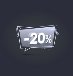 Banner 20 off with share discount percentage vector