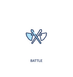 Battle concept 2 colored icon simple line element vector