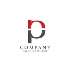 best pn letter logo design vector image