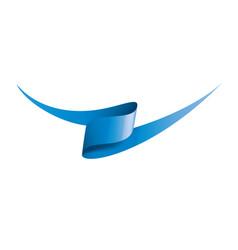 Blue sticker on white background vector