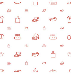 Bread icons pattern seamless white background vector