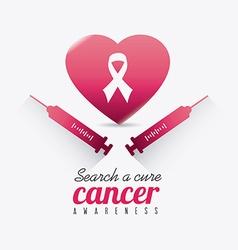 Breast cancer design vector image