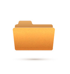 bright yellow realistic open folder icon isolated vector image