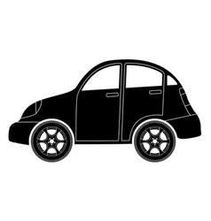 car black icon vector image