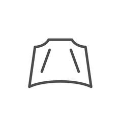 Car hood line icon vector