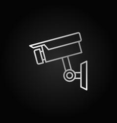 Cctv camera silver icon or linear symbol vector